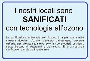 Sanificazioni con ozono